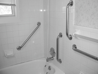 Bathtub Grab Bar Dimensions bathroom grab bars