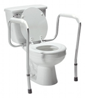 toilet safety rails attach to the back of your existing toilet to